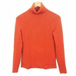 J. Crew Orange Cashmere Turtleneck Small